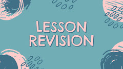 Pink & Green Rough Shapes Lesson Revision Presentation Slide Quiz Night Poster