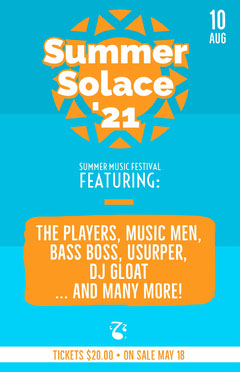 Summer <BR>Solace <BR>'21 Music Festival Poster