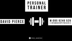 Black and White Personal Trainer Business Card Personal Trainer Flyer