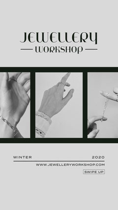 Black and White Jewellery Workshop Instagram Story Workshop