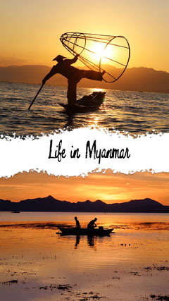 Warm Colors Toned Myanman Travel Ad Instagram Story Boats