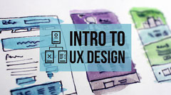 Blue Intro to UX Design Blog Post Graphic Tech