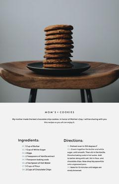 Minimalistic, Modern, Light Toned Cookie Recipe Instagram Portrait Instagram Flyer