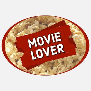 oval movie lover sticker Sticker Maker