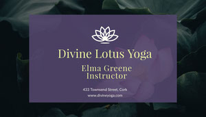 Violet and White Divine Lotus Yoga Card Yoga Posters