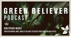 Green Leaves & Cream Border Podcast Facebook Post Border