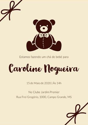 teddy bear baby shower invitations  Convites
