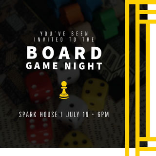 BOARD GAME NIGHT Party Flyer