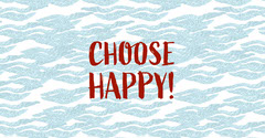 Blue and Red Positive Optimistic Facebook Post Graphic with Wave Pattern Wave