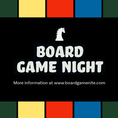 Multicolored Board Game Night Event Instagram Square Game Night Flyer