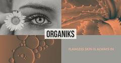 Brown and Grey Organiks Facebook Advertisement Cosmetic