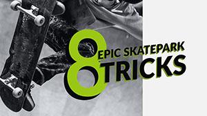 Green and Grey Skatepark Tricks You Tube Banner  Banner de YouTube