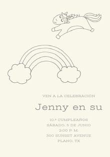 rainbow unicorn birthday cards  Tarjeta de cumpleaños