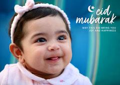 Cute Simple Handwritten Eid Mubarak Photo Greeting Card Eid Mubarak