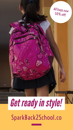 Back to School Store Sale Instagram Story Ad with Student with Backpack Instagram Story