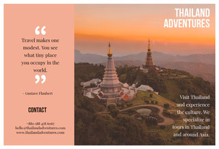 Pink With Thailand View Brochure Brochure