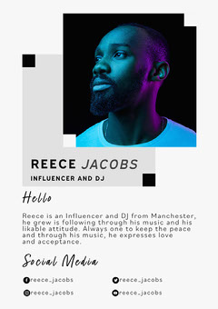 Blue Purple and Grey Influencer Dj Media Kit  Social Media Flyer