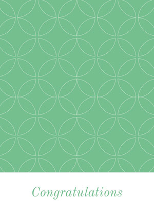 Green Pattern Congratulations Card Glückwunschkarte