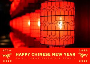 Orange With Lanterns Chinese New Year Card Chinese New Year