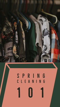 Pink and Green Spring Cleaning Social Post Spring