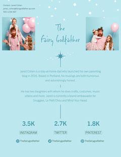 Blue Fairy Godfather Dad Blogger Media Kit Letter Kids