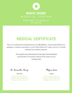 north shore medical certificate  Health Posters
