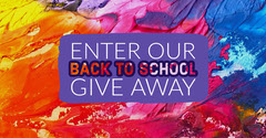 Multicolored Back to School Giveaway Instagram Landscape Ad Giveaway