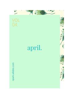 Green and White April Meme Blog  Spring