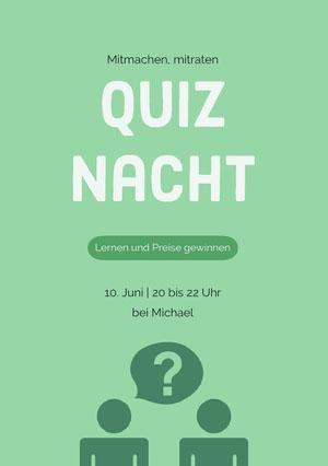 Quiz Nacht Einladungen