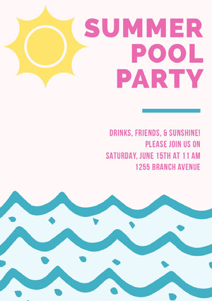 SUMMER POOL PARTY  Invitation à une fête