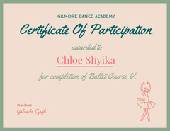 Pink and Green Award Certificate Dance Flyers
