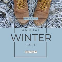 Winter Sales Blue Boots igsquare Winter