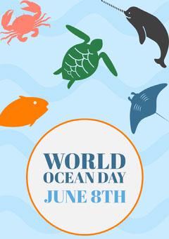 ocean day poster  Ocean