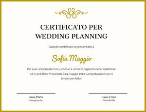 Sofia Maggio Certificato
