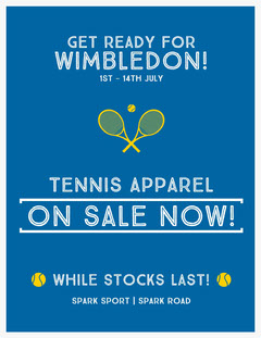 On sale now! Tennis
