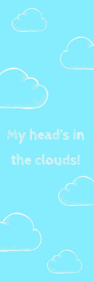 Blue Clouds Bookmark Bookmark
