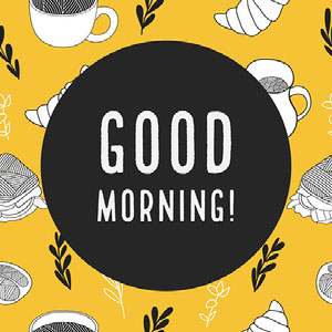 Yellow and Black Good Morning Instagram Graphic Meme