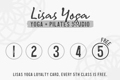 Grey and White Yoga Studio Loyalty Card Gym