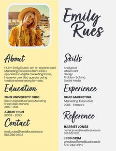 Emily Rues Resume CV Marketing