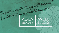 Green and White Aqua Beauty Flyer Wellness