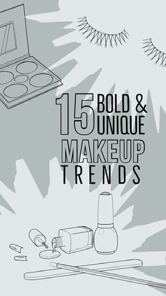 Grey and Black Make Up Trends Social Post Makeup