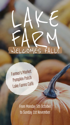 Orange Pumpkin Farm Autumn Event Instagram Story Autumn