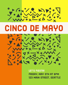 Bright Multicolored Cinco De Mayo Celebration Flyer Flyer