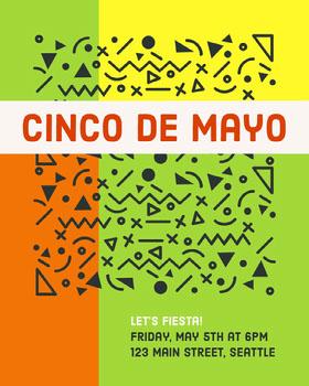 Bright Multicolored Cinco De Mayo Celebration Flyer Flyer