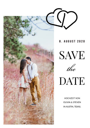 romantic photo save the date card  eCard