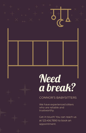 Need a break? Babysitting Flyer