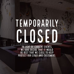 Temporarily Closed Instagram Square Shopping