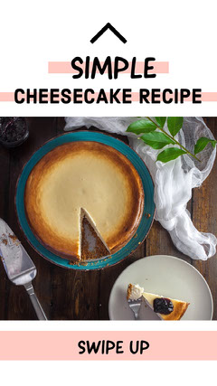 White and Pink Cheesecake Recipe Social Post Cakes