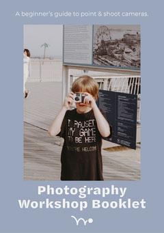 Blue Photography Workshop Booklet Cover Workshop