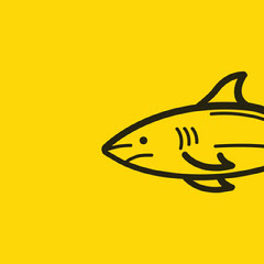 Yellow and Black Shark Front Instagram Post Fish